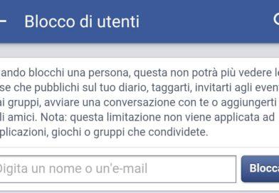 Come bloccare contatti su Facebook