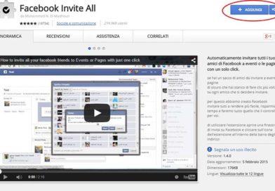 Invitare tutti gli amici di Facebook con un solo click