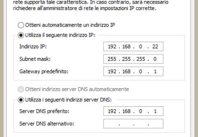 Come assegnare un indirizzo IP statico