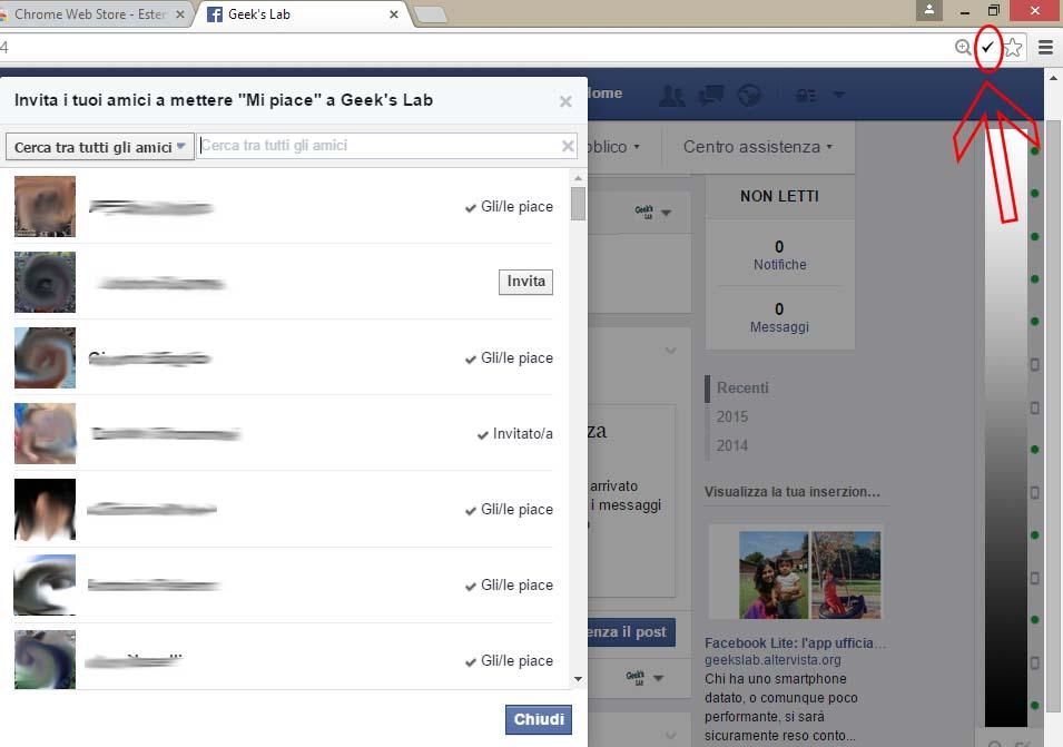 Invitare tutti gli amici di Facebook
