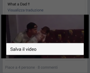 salvare video facebook su android