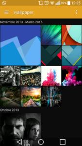 Sony Album Material Design per smartphone Android
