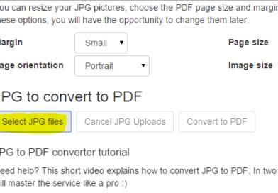 Convertire jpg in pdf online