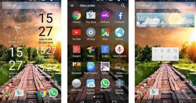 Xperia home and widgets on your Android device