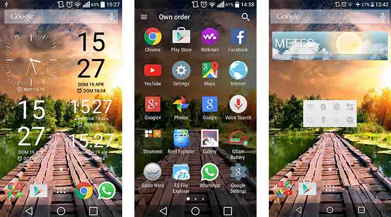 Xperia home and widgets on your Android device | Geek's Lab