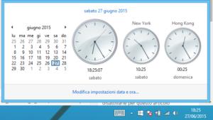Mostrare orologi e fusi orari multipli Windows 8