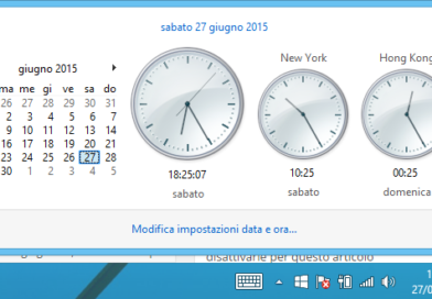 Mostrare orologi e fusi orari multipli Windows 8
