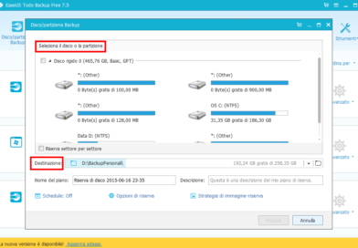 Creare copie di backup hard disk