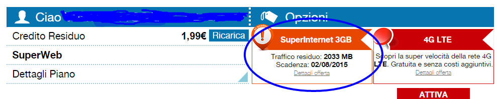 Controllare traffico dati Webcube 3