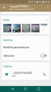 Silenziare contatto WhatsApp senza bloccarlo