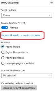 Come importare preferiti su Microsoft Edge