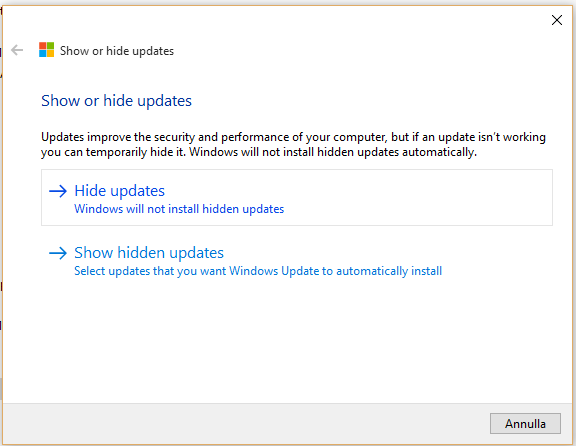 impedire aggiornamento driver su Windows 10
