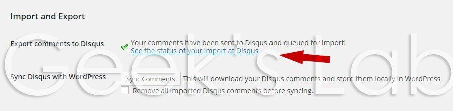 disqus export comments status