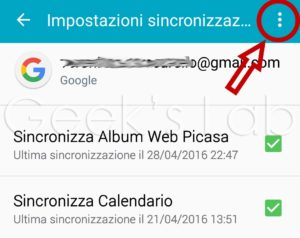 Eliminare account Gmail su Android