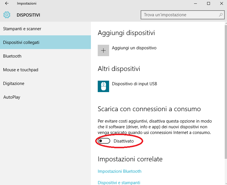 risparmiare dati su Windows 10