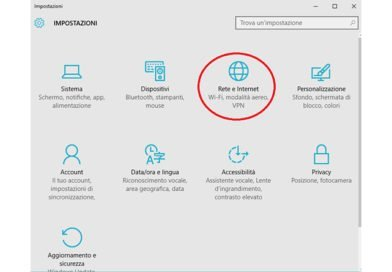Impostare connessione a consumo Windows 10