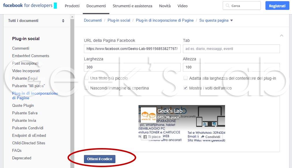 Inserire Fan Box Facebook su sito
