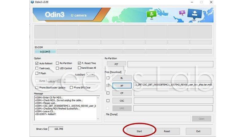 Tool Odin per dispositivi Samsung