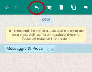 citare un messaggio su WhatsApp