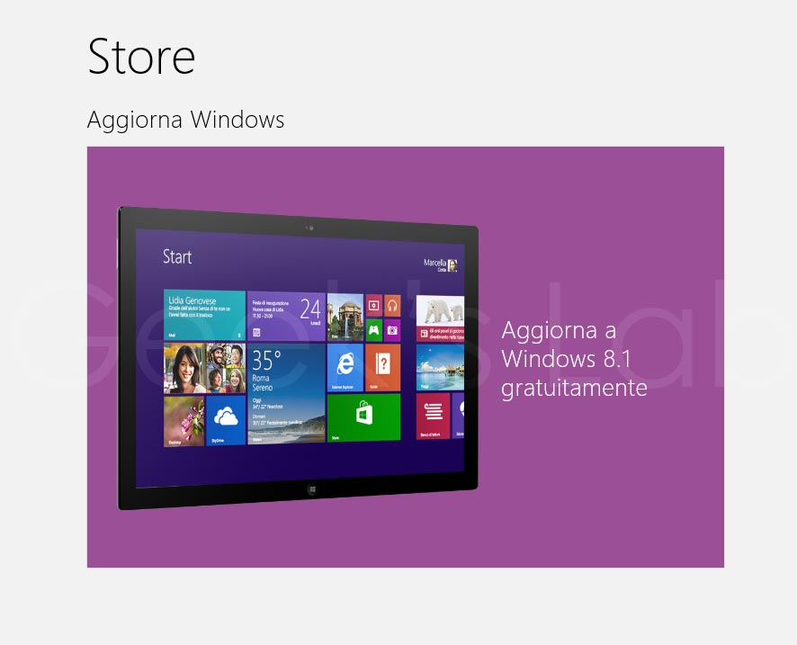 aggiornare Windows 8 a Windows 8.1