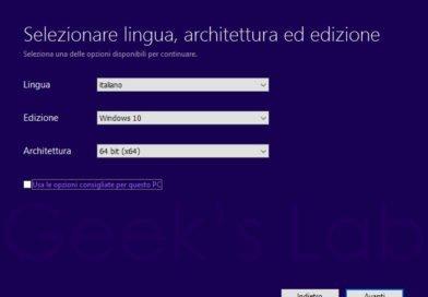 Guida completa installazione Windows 10 da USB