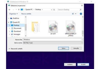 Scaricare ISO ufficiale Windows 10