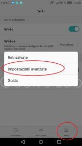 Problema connessione wifi Huawei P8 Lite