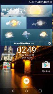 Home e Widget Xperia Z5 su smartphone Android