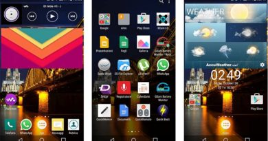Xperia Z5 home and widgets on your Android device