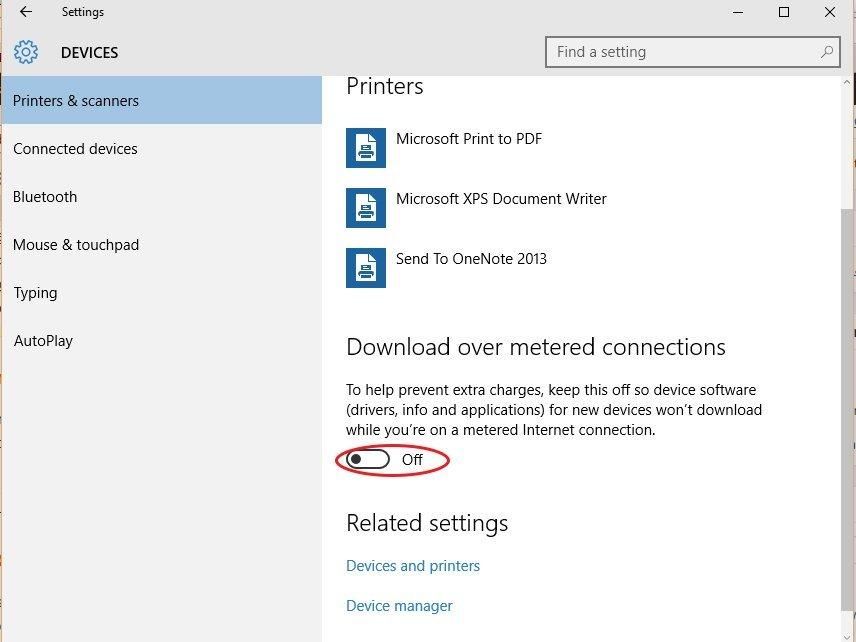 reduce data usage on Windows 10