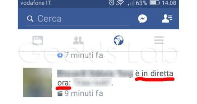 Come disattivare notifiche Video in Diretta Facebook