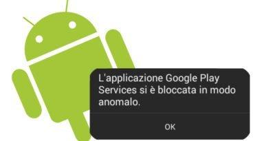 applicazione si è bloccata in modo anomalo