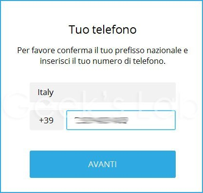 Come usare telegram da pc windows e mac geek 39 s lab - Numero di telefono piscina ortacesus ...
