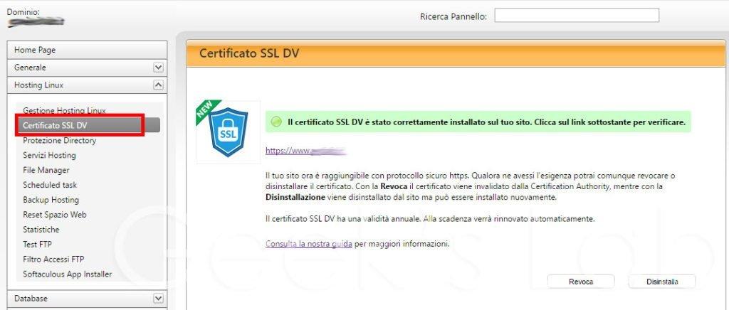 Configurare certificato SSL su WordPress