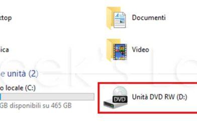 [Soluzione] Windows 10 non rileva lettore cd dvd