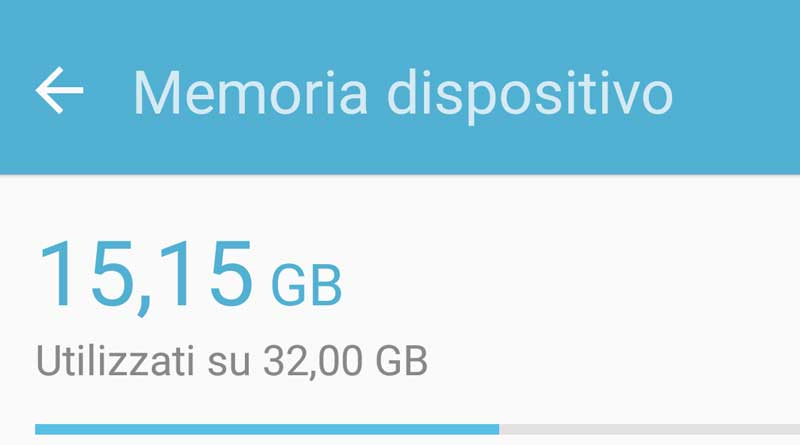 Memoria insufficiente su Android