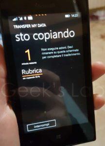 Trasferire contatti da Android a Windows Phone