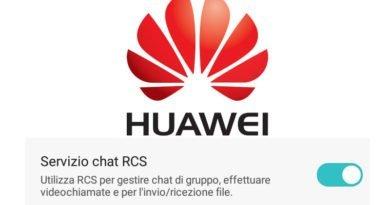 Disattivare servizio chat RCS su smartphone Huawei