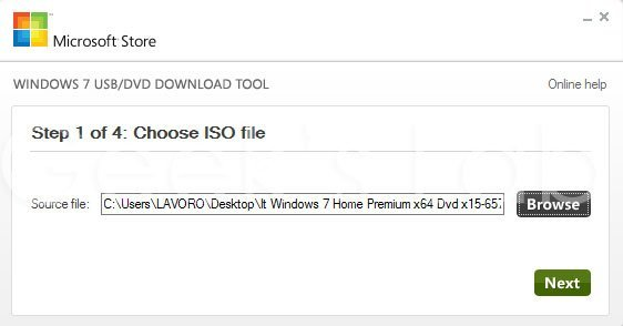 Creare pendrive usb avviabile di Windows 7