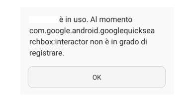 [Soluzione] Com google android googlequicksearchbox non è in grado di registrare