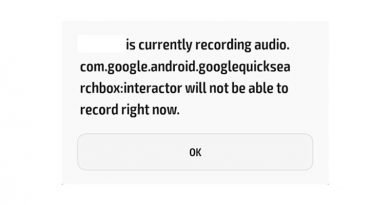 [Fix] Com google android googlequicksearchbox will not be able to record
