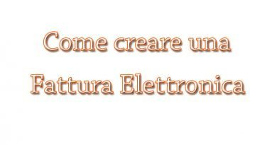 creare una fattura elettronica