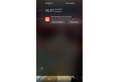 Disattivare notifica Promemoria sul Consumo su smartphone Huawei