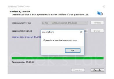 Come installare Windows 10 su hard disk esterno