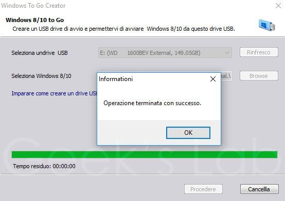 installare Windows 8 su hard disk esterno