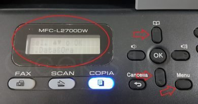 Modificare data e ora su stampante Brother MFC L2700