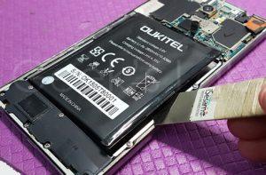 smontaggio batteria Oukitel U8
