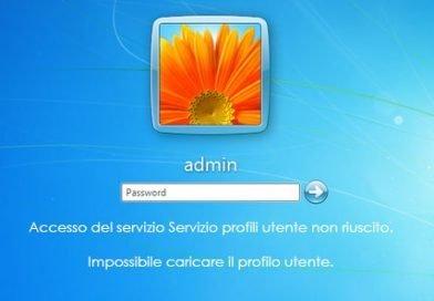 [Soluzione] Accesso servizio profili utente non riuscito
