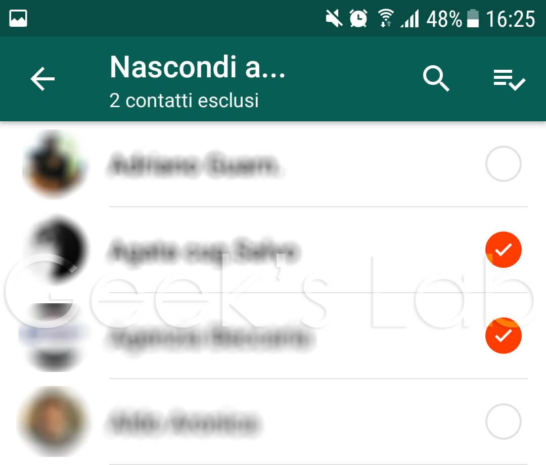 come non far vedere la foto di whatsapp ad alcuni contatti