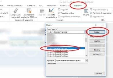 Come rimuovere password foglio Excel